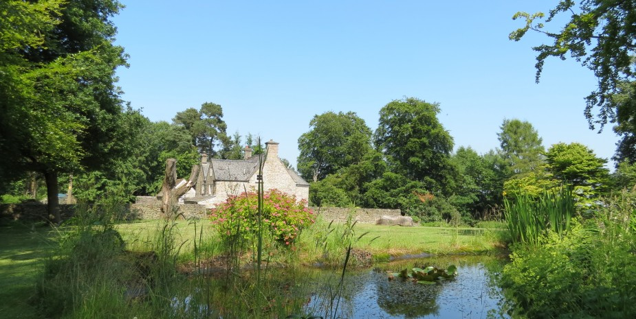 Wild Pond with the top lawn and Danby Lodge behind