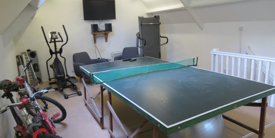 The games room/gym